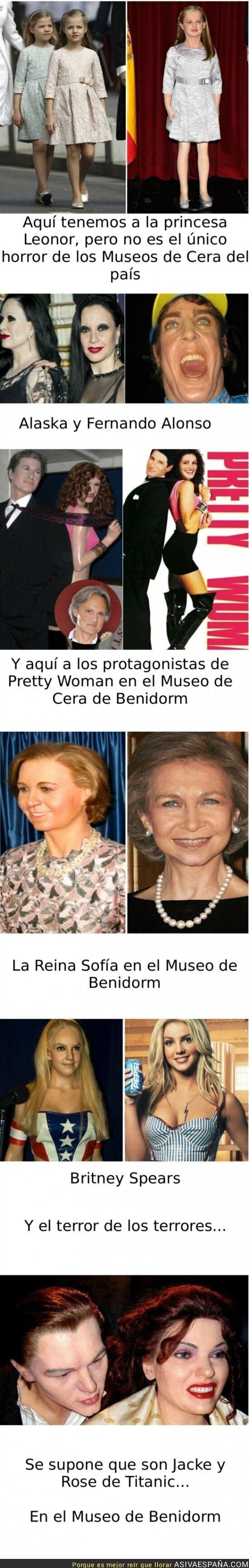 3892 - TERRORES DE MUSEOS DE CERA - Porque no sólo Leonor es víctima de ellos