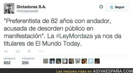 12085 - Ojalá fuera una bromade @elmundotoday, pero no por @DictadoresSA