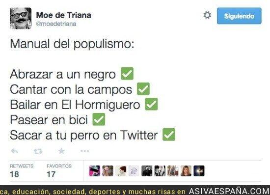 12334 - Manual de populismo según @moedetriana