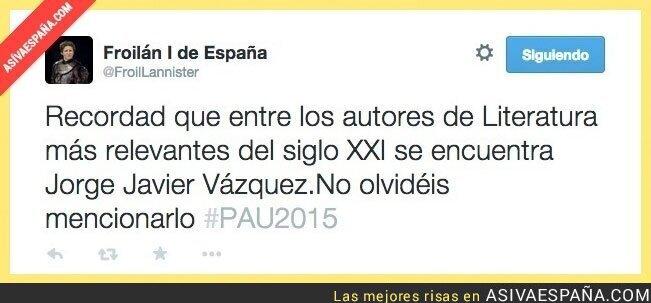 14870 - Cuando te recuerdan que Jorge Javier Vázquez tiene un libro... por @FroilLannister