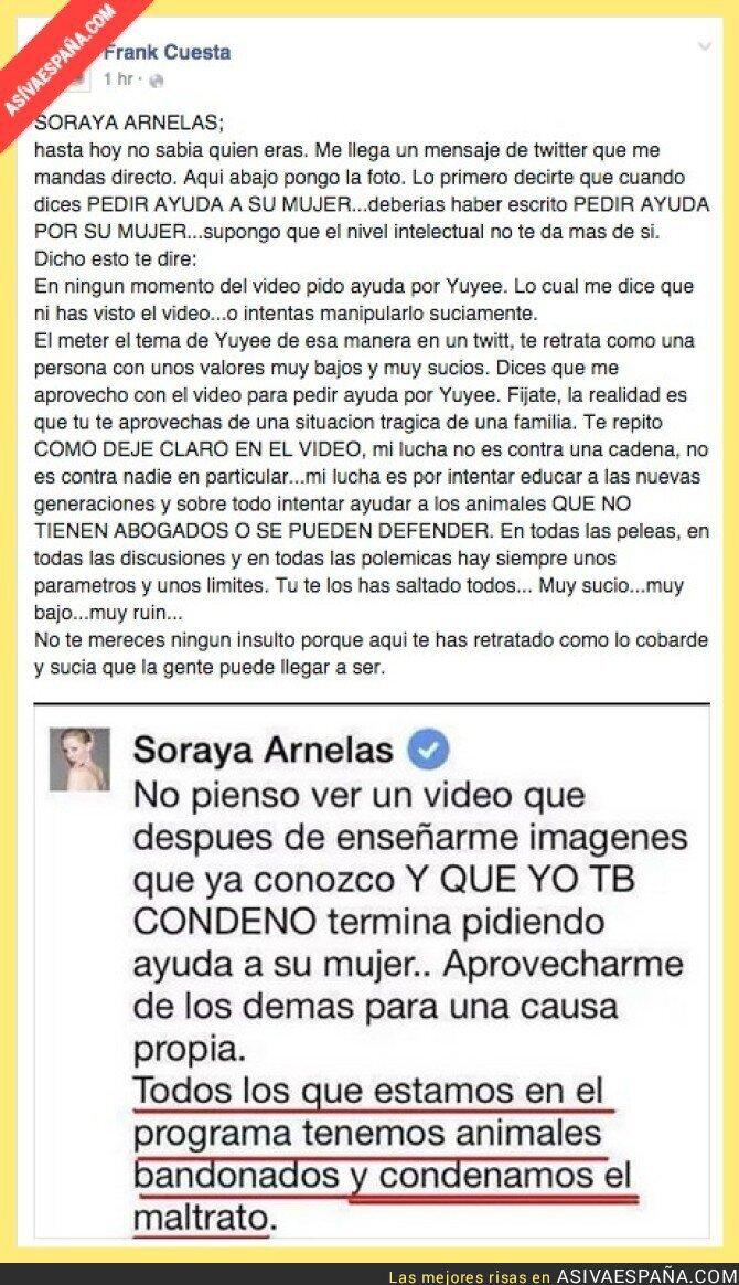 18072 - Así de claro contesta Frank Cuesta a Soraya Arneles ¡Vaya fauna!