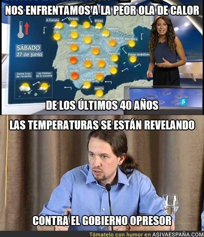 19070 - La ola de calor según Pablo Iglesias