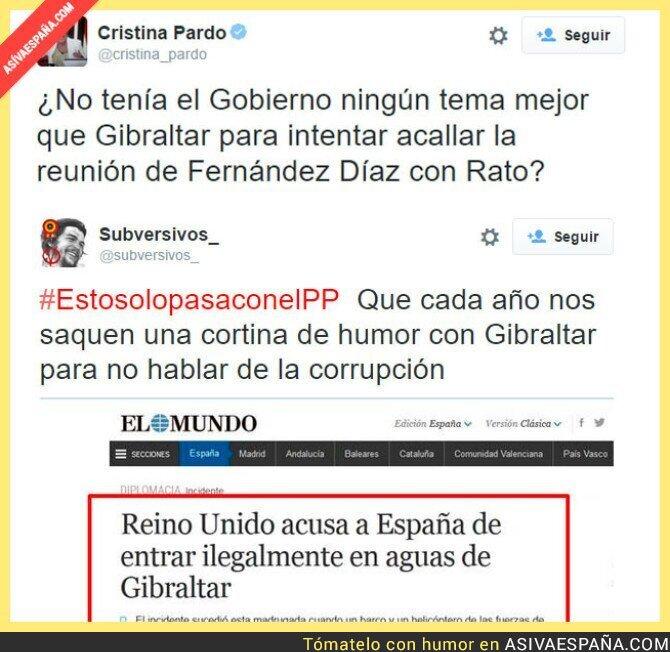 19929 - El PP intentando desviar la atención de la reunión de Interior y Rato sacando el tema de Gibraltar