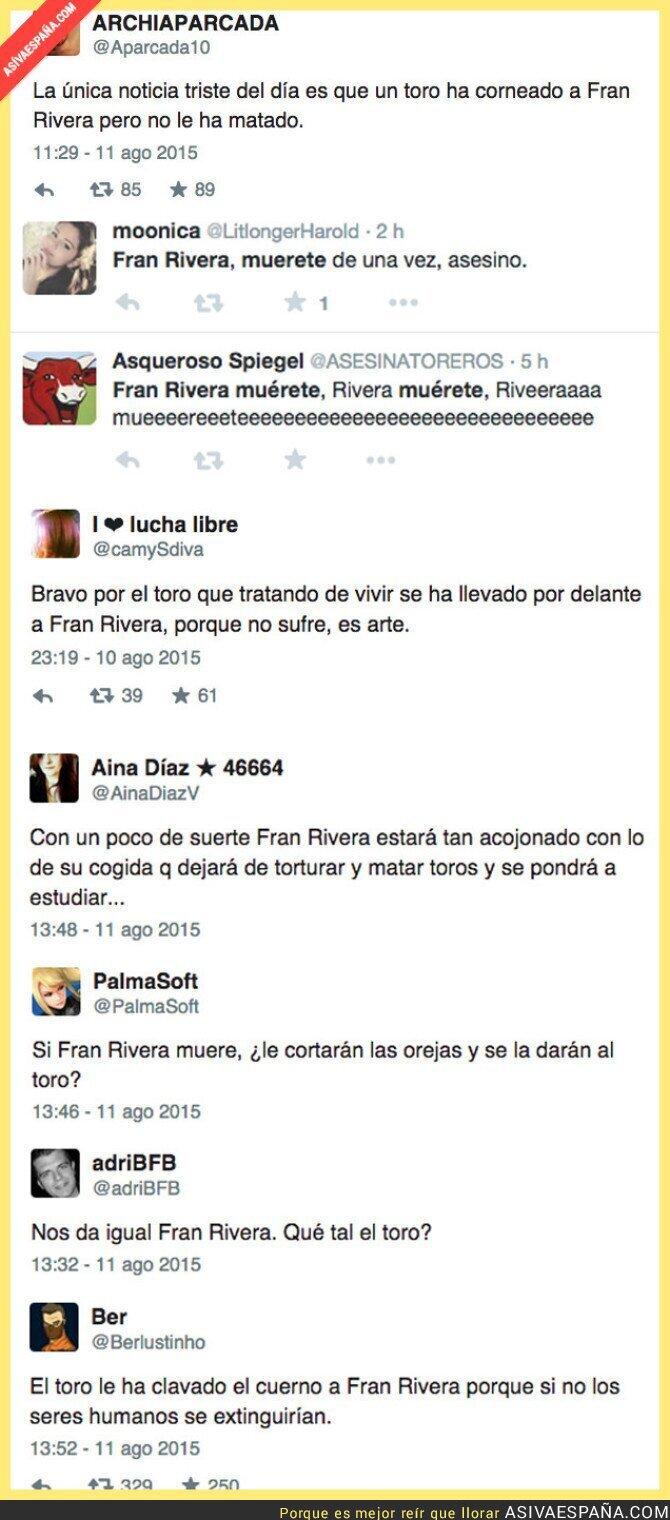 20004 - Los tuits contra Fran Rivera por la cogida de toro que sufrió