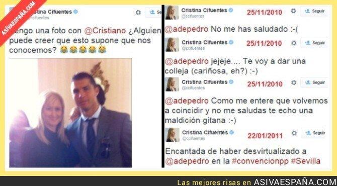 20126 - Cristina Cifuentes intentando desviar la atención de lo evidente