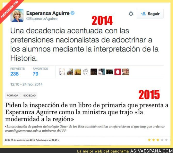 22491 - ¿Qué dirá ahora la señora Esperanza Aguirre de la educación?