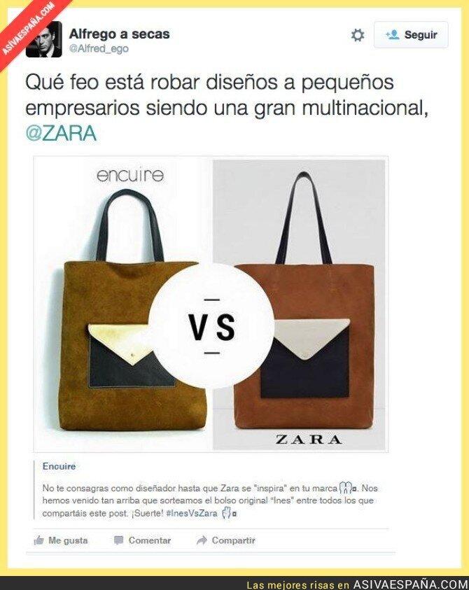 22694 - ZARA le plagia el diseño de un bolso a ENCUIRE