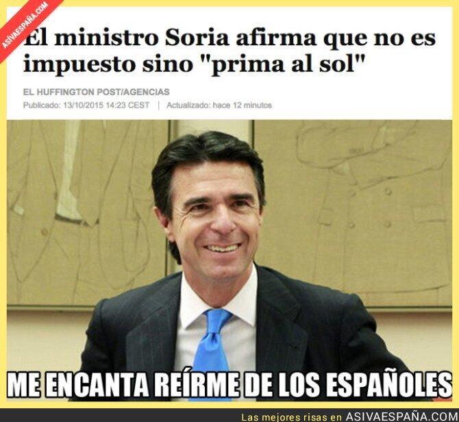 24157 - El ministro Soria nos ha visto cara de tontos