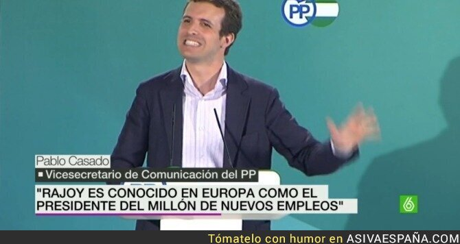 24990 - Mariano Rajoy es el salvador de Europa, según Pablo Casado