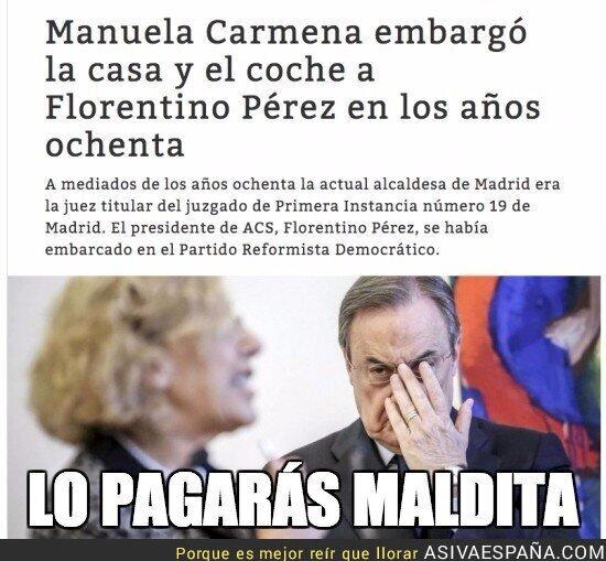 25366 - Florentino Pérez se la tiene guardada a Manuela Carmena
