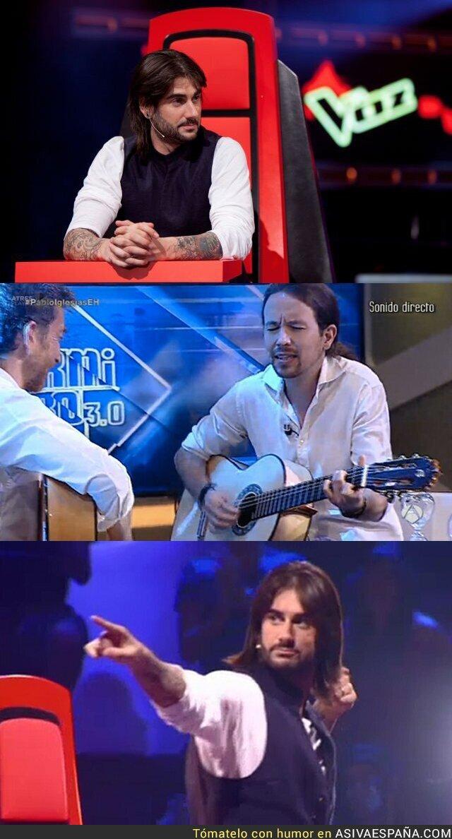 25525 - Pablo Iglesias pasa la prueba en La Voz