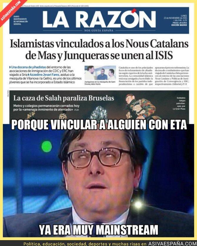26872 - Paco Marhuenda lo ha vuelto a hacer en una de sus portadas, ahora con ISIS y Cataluña