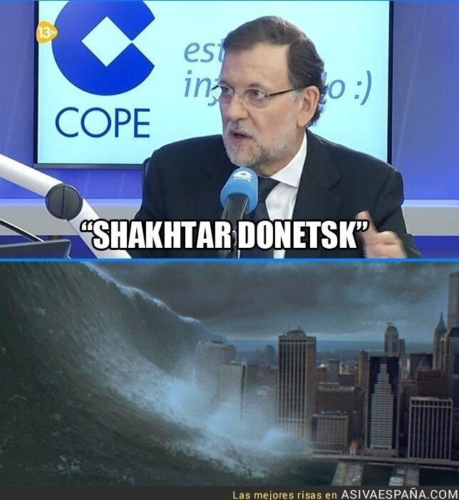 26997 - Los problemas de Rajoy retransmitiendo el Shakhtar - Real Madrid de Champions en la COPE