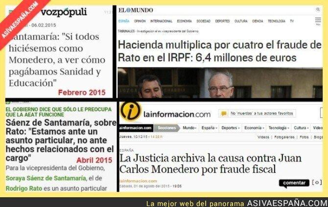 28449 - Cuando a Soraya Sáenz de Santamaría se le olvidó pedir a Rato que pague