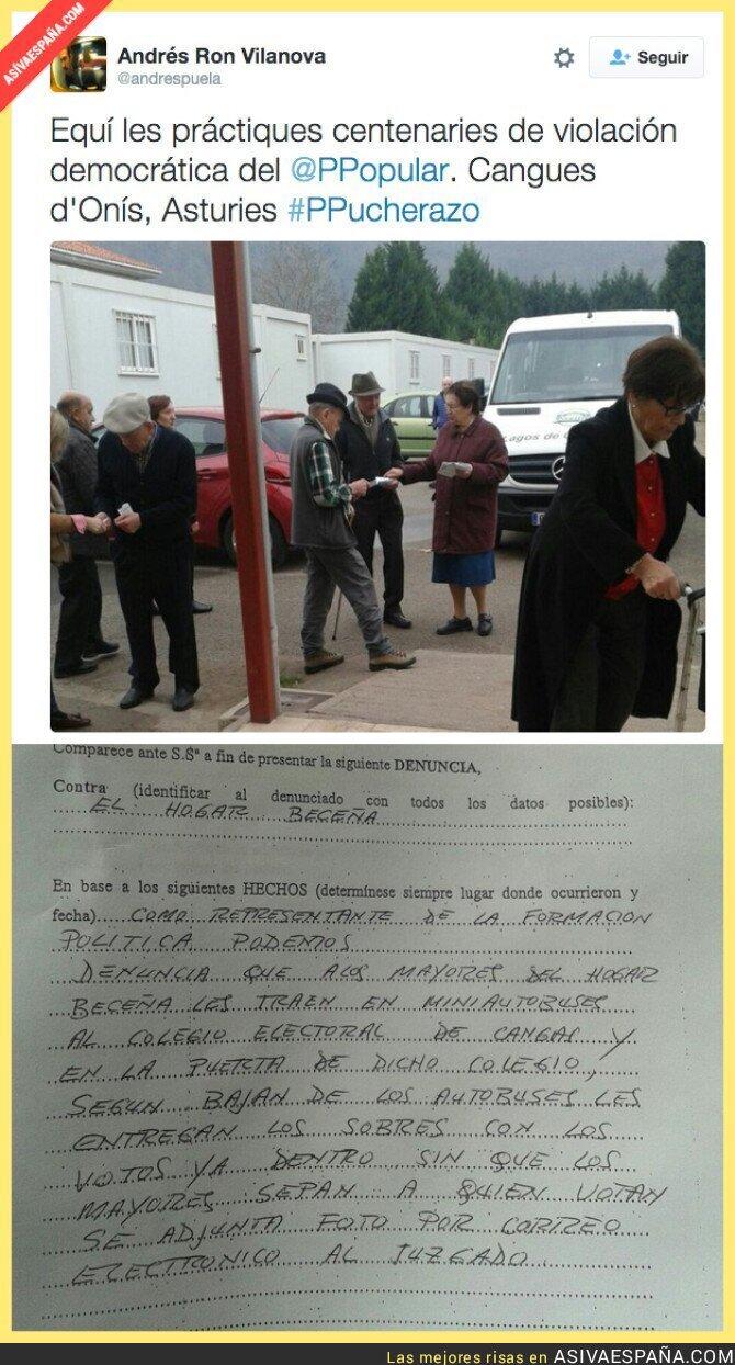 29899 - Reparto de sobres a gente mayor con votos para el PP en Asturias