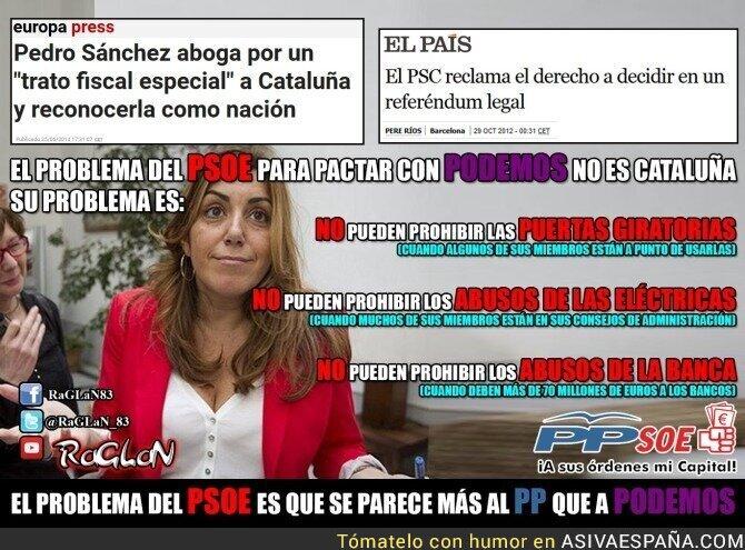 30796 - ¿Por qué no puede pactar el PSOE con Podemos?