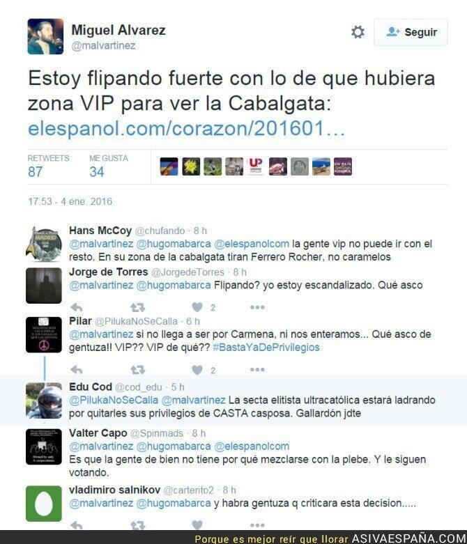 31214 - Manuela Carmena y las reacciones de los Palcos VIP para la cabalgata de Reyes