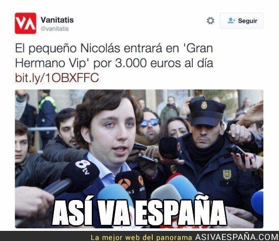 31424 - El vergonzoso sueldo de El Pequeño Nicolas en Gran Hermano VIP