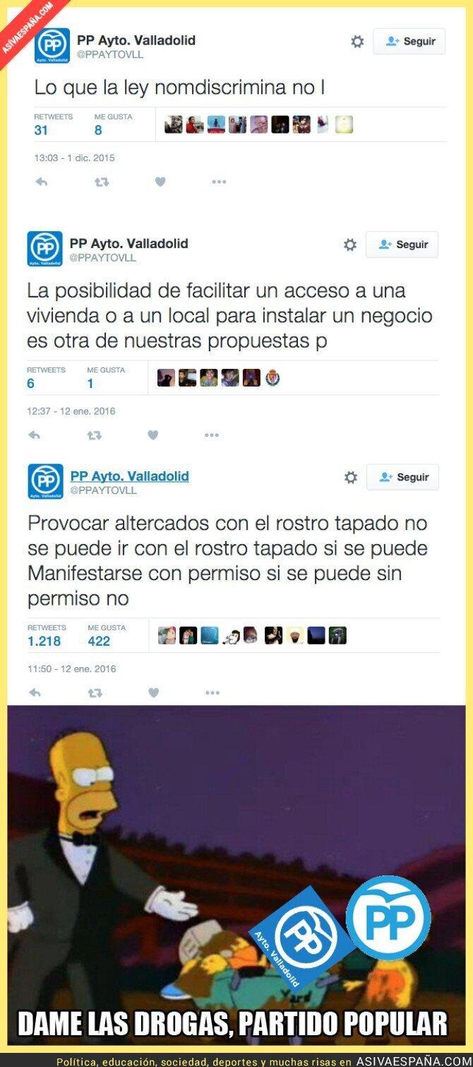 32320 - Mucha atención a los tuits del Ayuntamiento de Valladolid del Partido Popular