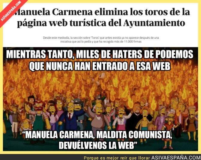 32546 - Manuela Carmena se carga los toros de la web turística de Madrid