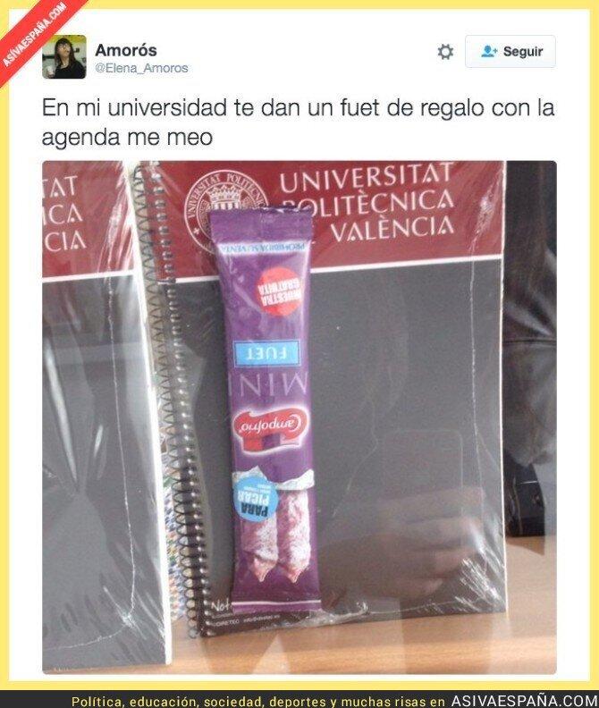 36877 - El bonito regalo que te dan en la Universidad Politécnica de Valencia con la agenda