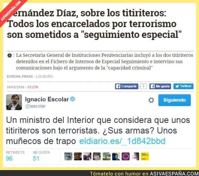 37485 - Hipocresía, definición: ESPAÑA, Leopoldo libertad, titiriteros terroristas