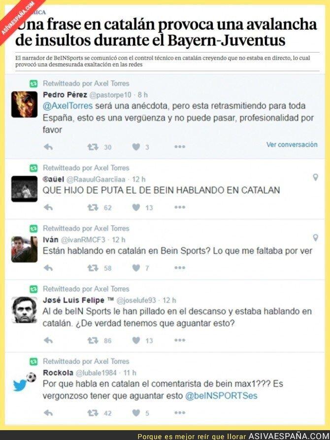 37520 - Así va España... hablan en catalán cuando pensaban que no estaban en directo y se lía en Twitter