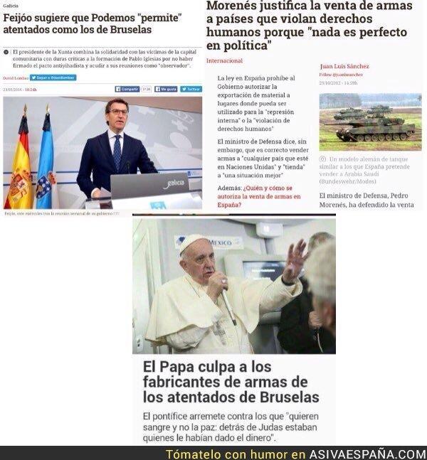 38103 - España, Podemos, la venta de armas y el Papa