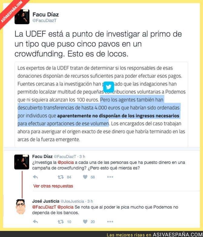 38331 - La UDEF investiga las donaciones a Podemos