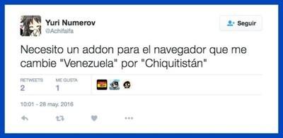 44123 - Ingeniero informático crea una extensión de Chrome que cambia «Venezuela» por «Chiquitistán»