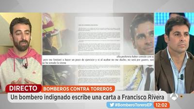 68085 - La brutal respuesta de un bombero a Fran Rivera tras decir que los toreros son