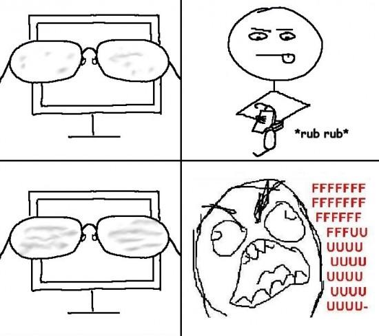 Ffffuuuuuuuuuu - Limpiando las gafas