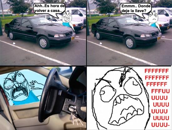 Ffffuuuuuuuuuu - ¿Y las llaves del coche?