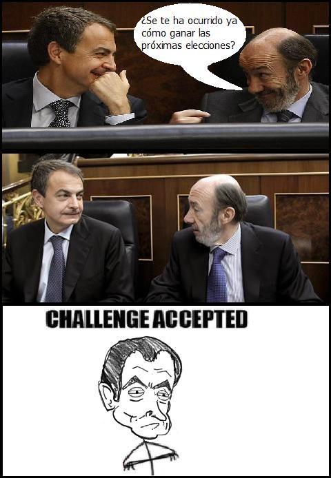 Challenge_accepted - Zapatero acepta el desafio