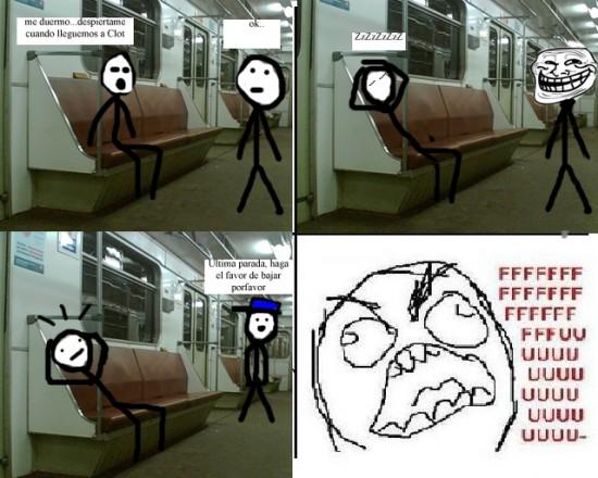 Ffffuuuuuuuuuu - Dormirse en el metro