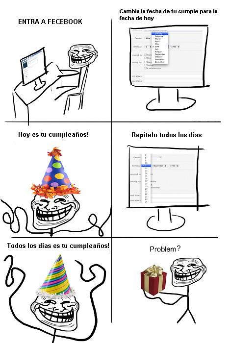 Trollface - Cumpleaños Troll