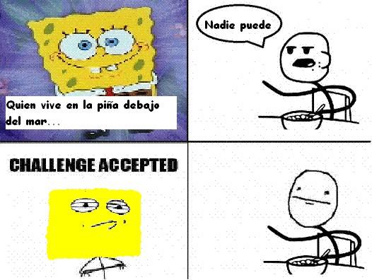 Challenge_accepted - Nadie puede vivir en una piña debajo del mar