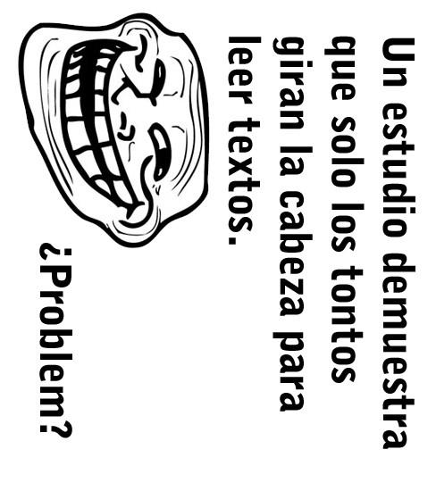 Trollface - Girar y leer