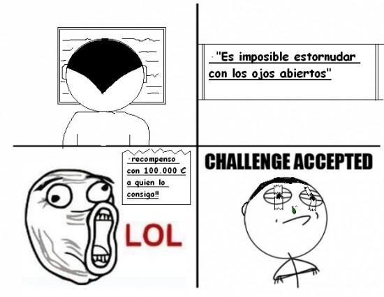 Challenge_accepted - Estornudar con los ojos abiertos