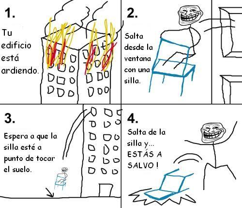 incendio,silla,troll face