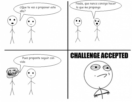 Challenge_accepted - Propuestas para año nuevo