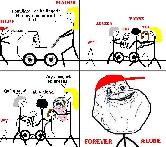 Forever_alone - Hermanos trolls ya al nacer
