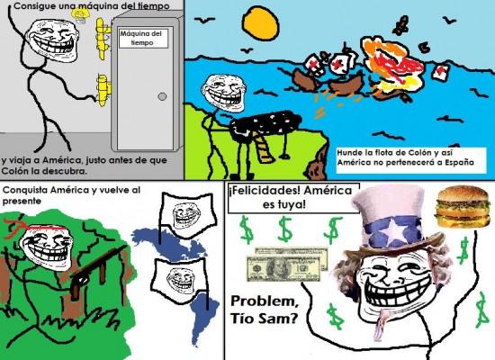 Trollface - ¿Problem, Tío Sam?