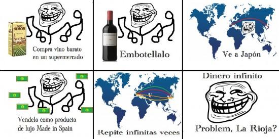 Trollface - El buen vino