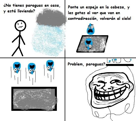 Trollface - Paraguas casero