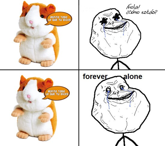 Forever_alone - Chatimals, inteligencia bestial