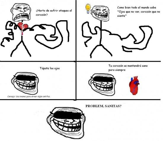Trollface - Cómo sobrevivir a ataques del corazón
