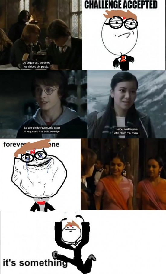 baile,challenged acepted,cho chang,forever alone,harry