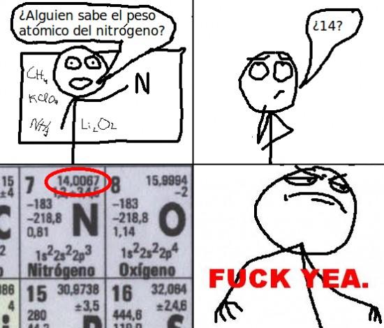 Fuck_yea - Adivinar el peso atómico
