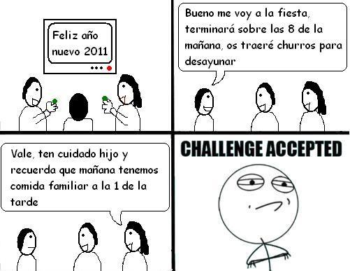Challenge_accepted - Comida de año nuevo a la 1
